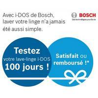 Offre d'Essai Bosch : Lave-Linge i-DOS Satisfait ou 100% Remboursé