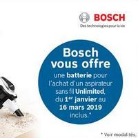 Bon Plan Bosch : Batterie pour Aspirateur sans Fil Unlimited Offerte