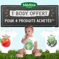 Bon Plan Blédina : 1 Body Offert pour 4 Produits Achetés