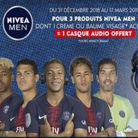 Bon Plan Nivea Men : 1 Casque Audio Offert pour l'achat de 3 Produits