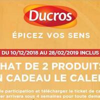 Bon Plan Ducros : Calendrier 2019 Offert