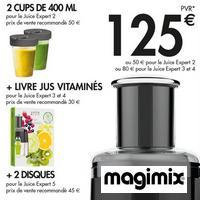 Bon Plan Magimix : Jusqu'à 125€ de Cadeaux pour l'achat d'un Juice Expert
