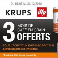 Bon Plan Krups : 3 Mois de Café en Grains Offerts