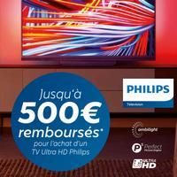 Offre de Remboursement Philips : Jusqu'à 500€ Remboursés sur Téléviseur Ultra HD Ambilight