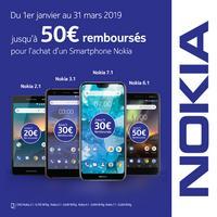 Offre de Remboursement Nokia : Jusqu'à 50€ Remboursés sur Smartphone