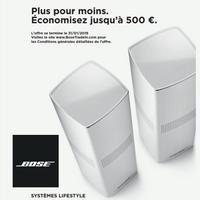 Offre de Remboursement Bose : Jusqu'à 500€ Remboursés en restituant votre Ancien Système Audio