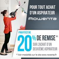Offre de Remboursement Rowenta : 20% Remboursés sur le 2ème Aspirateur