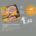 Bon Plan Pavé Le Burger à la Française Daunat chez Leclerc - anti-crise.fr
