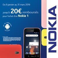 Offre de Remboursement Nokia : 20€ Remboursés sur Smartphone
