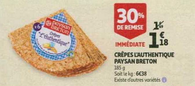Bon Plan Crêpes L'Authentique Paysan Breton chez Auchan - anti-crise.fr