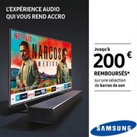 Offre de Remboursement Samsung : Jusqu'à 200€ Remboursés sur Barre de Son