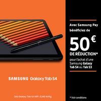 Offre de Remboursement Samsung : 50€ Remboursés sur Galaxy Tab S4 ou S3