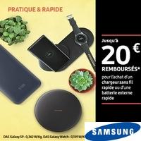 Offre de Remboursement Samsung : Jusqu'à 20€ Remboursés sur Chargeur sans Fil ou Batterie Externe