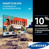 Offre de Remboursement Samsung : 10% Remboursés sur TV QLED 4K ou 4k UHD