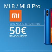 Offre de Remboursement Xiaomi : 50€ Remboursés sur Smartphone MI 8