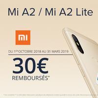 Offre de Remboursement Xiaomi : 30€ Remboursés sur Smartphone MI A2 ou MI A2 LITE