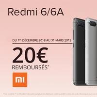 Offre de Remboursement Xiaomi : 20€ Remboursés sur Smartphone REDMI 6 ou 6A