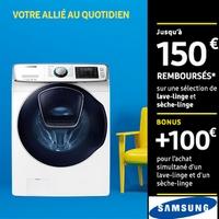 Offre de Remboursement Samsung : Jusqu'à 150€ Remboursés sur Lave-Linge et Sèche-Linge