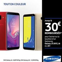 Offre de Remboursement Samsung : Jusqu'à 30€ Remboursés sur Smartphone Galaxy J3 2017, J6 ou J6+