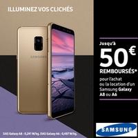Offre de Remboursement Samsung : Jusqu'à 50€ Remboursés sur Smartphone Galaxy A8 ou A6
