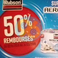 Offre de Remboursement Rubson : 50% Remboursés sur Recharges Aero 360° Tab