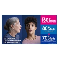 Boursorama Banque : 150€ offerts pour l'ouverture d'un compte