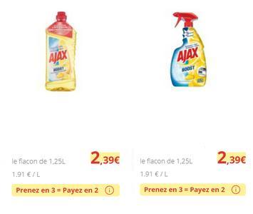 Bon Plan Nettoyant Ajax Boost chez Carrefour Market - anti-crise.fr