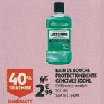 Bon Plan Bain de Bouche Listérine chez Auchan Supermarché - anti-crise.fr