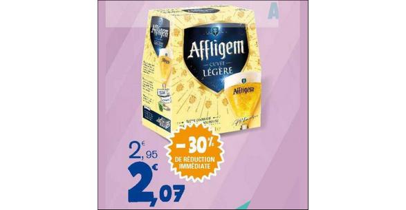Bon Plan Bière Cuvée Légère Affligem chez Leclerc Est - anti-crise.fr