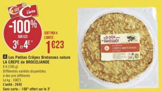 Bon Plan Petites Crêpes Brocéliande chez Géant Casino (22/01 - 03/02) - anti-crise.Fr