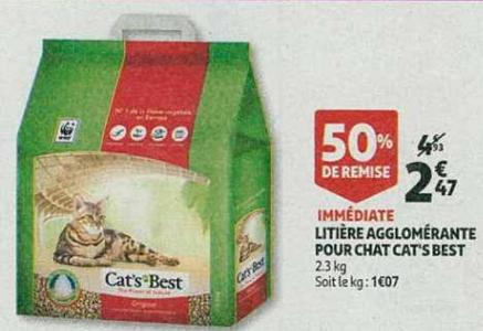 Bon Plan Litière Cat's Best chez Auchan (06/02 - 12/02) - anti-crise.Fr
