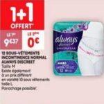 Bon Plan Culottes Always Discreet Boutique chez Leader Price (29/01 - 10/02) - anti-crise.fr