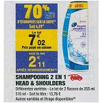 Bon Plan Shampoing Head & Shoulders chez Carrefour Market (08/01 - 20/01) - anti-crise.fr