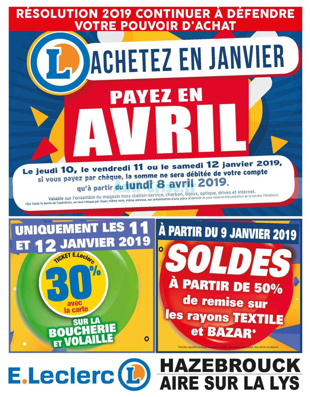 Catalogue Leclerc Local Du 07 Au 12 Janvier 2019 Hazebrouck Aire 11Catalogue 22