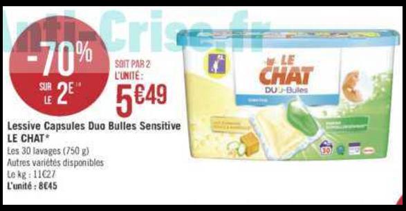 Bon Plan Lessive Le Chat Capsules chez Géant Casino (08/01 - 20/01) - anti-crise.Fr