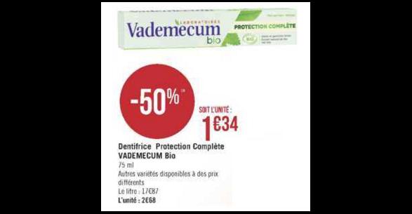Bon Plan Dentifrice Vademecum chez Géant Casino (08/01 - 20/01) - anti-crise.Fr