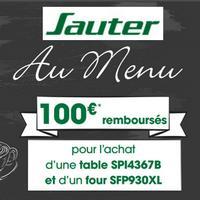 Offre de Remboursement Sauter / But : 100€ Remboursés sur Four Pyrolyse + Table à Induction