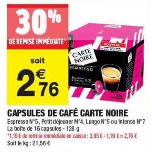 Bon Plan Capsules Pour Dolce Gusto Carte Noire chez Carrefour Market - anti-crise.fr