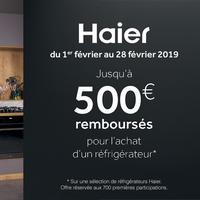 Offre de Remboursement Haier : Jusqu'à 500€ Remboursés sur Réfrigérateur