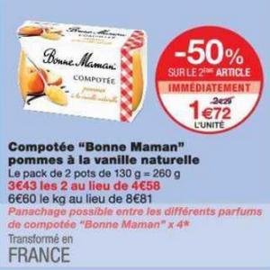 Bon Plan Compotée Bonne Maman chez Monoprix - anti-crise.fr