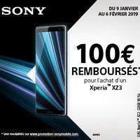 Offre de Remboursement Sony : 100€ Remboursés sur Smartphone Xperia™ XZ3
