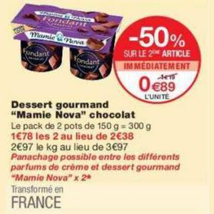Bon Plan Dessert Gourmand Mamie Nova chez Monoprix - anti-crise.fr