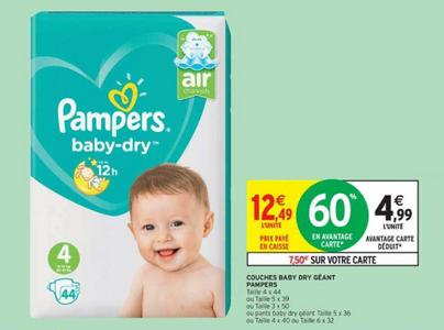 Bon Plan Couches Pampers Baby Dry Chez Intermarché 2602 0303