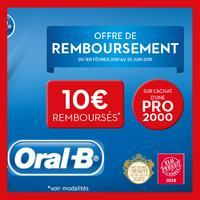 Offre de Remboursement Oral-B : 10€ Remboursés sur BAD Electrique Pro 2000