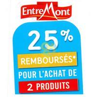 Offre de Remboursement EntreMont : 25% Remboursés sur 2 Fromages