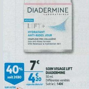 Bon Plan Soin Lift+ de Diadermine chez Auchan - anti-crise.fr