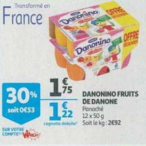 Bon Plan Danonino chez Auchan Supermarché - anti-crise.fr