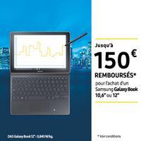 Offre de Remboursement Samsung : Jusqu'à 150€ Remboursés sur Galaxy Book 10,6″ ou 12″