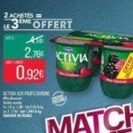 Bon Plan Yaourts Activia Fruits Danone chez Match - anti-crise.fr