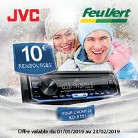 Offre de Remboursement JVC / Feu Vert : 10€ Remboursés sur Autoradio KD-X151